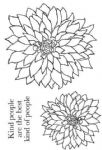 Bold Blooms Delilah Clear Woodware Stamp  (JGS513)